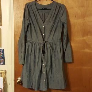 Gap 100% Cotton Chambray Button Up Dress
